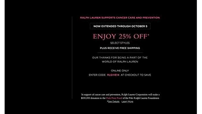 (English) RALPH LAUREN SALE (OCTOBER 1-14, 2014)
