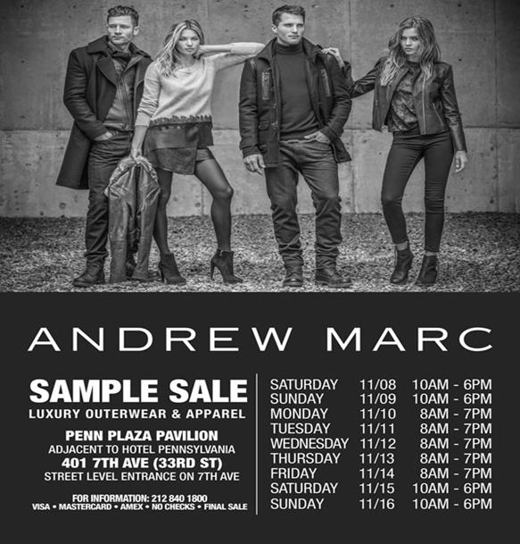 ANDREW MARC SAMPLE SALE (NOVEMBER 8-16, 2014)