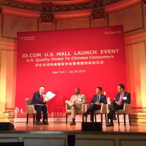 JD.com US Mall launch - panel of speakers